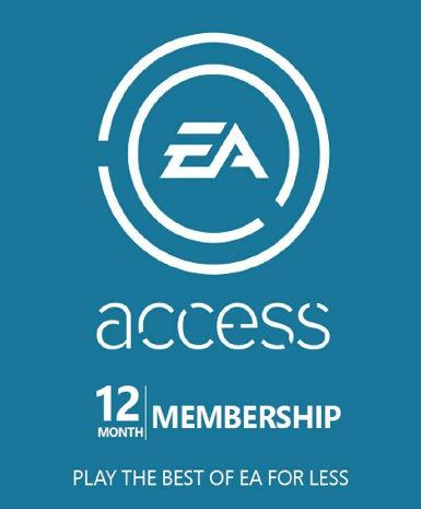 EA ACCESS PASS CODE 12 MONTHS - XBOX LIVE - PC - WORLDWIDE