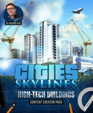 CITIES: SKYLINES - HIGH-TECH BUILDINGS (DLC) - STEAM - PC / MAC