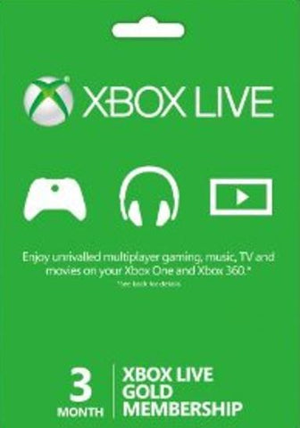 XBOX LIVE GOLD 3 MONTH - WORLDWIDE Libelula Vesela Jocuri video