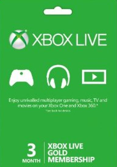 XBOX LIVE GOLD 3 MONTH - WORLDWIDE