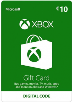 XBOX LIVE GIFT CARD EUROPE 10 EUR - XBOX LIVE - EU - MULTILANGUAGE - XBOX