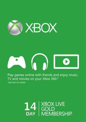 XBOX LIVE - 14 DAYS GOLD TRIAL - XBOX LIVE - MULTILANGUAGE - WORLDWIDE - XBOX