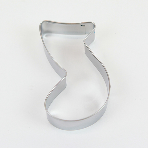Steel Cookie Cutter - large quaver notes.
