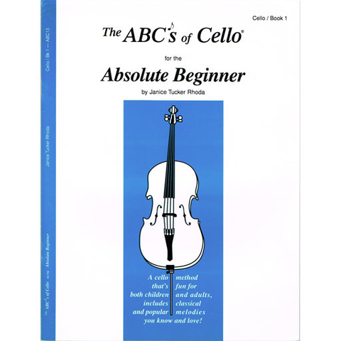 ABC's of Cello Book 1 - Cello/mp3 CD by Rhoda Fischer ABC13X