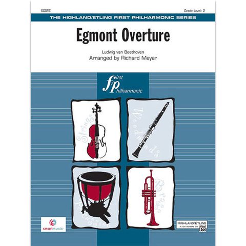 Beethoven - Egmont Overture - Full Orchestra Grade 2 Score/Parts arranged by Meyer Highland/Etling 29745