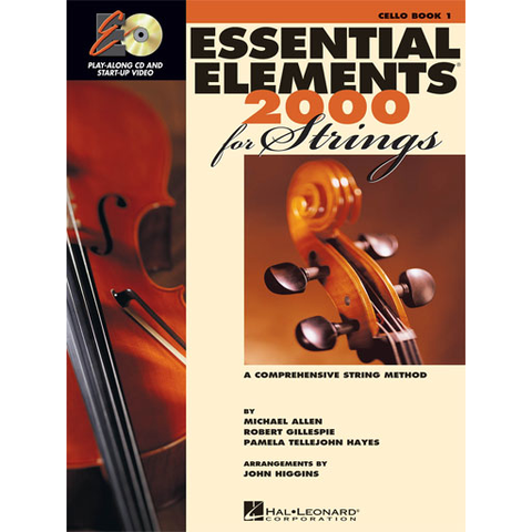 Essential Elements 2000 Book 1 - Cello/Audio Access Hal Leonard 868051