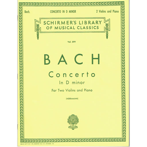 Bach - Concerto in Dmin - 2 Violins/Piano Accompaniment Schirmer 50256860