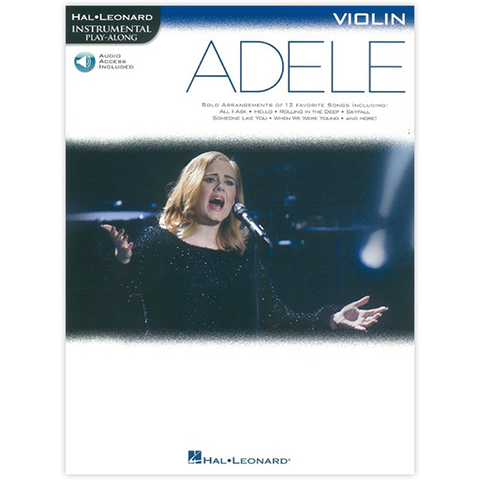 Adele Instrumental Play-Along - Violin/Audio Access Online Hal Leonard HL00159658