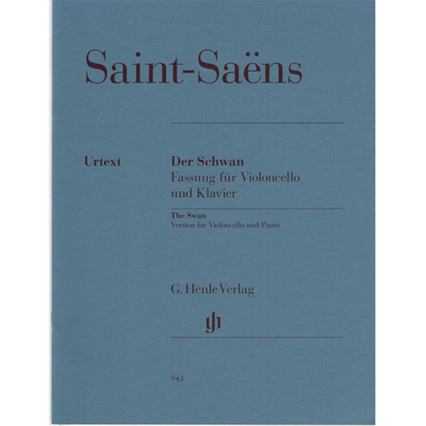 Saint-Saens - Swan from the Carnival of Animals - Cello/Piano Accompanmiment Henle HN943