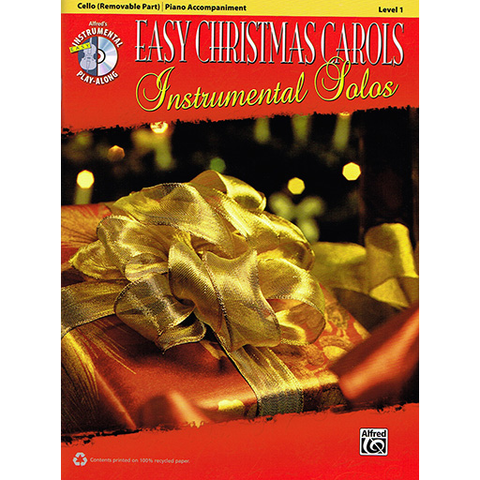 Easy Christmas Carols Instrumental Solos - Cello/CD/Piano Accompaniment Alfred 38778