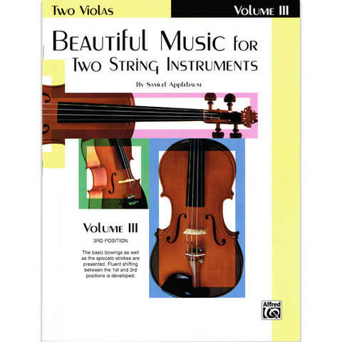 Beautiful Music for Two String Instruments Volume 3 - Viola Duet EL02223