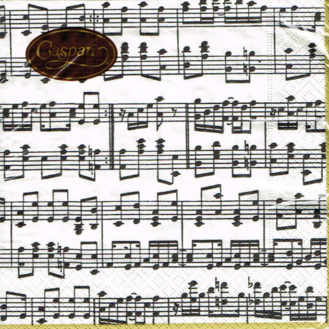 SERVIETTES NAPKINS LUNCH - Musica - Golg, Black and Creme.