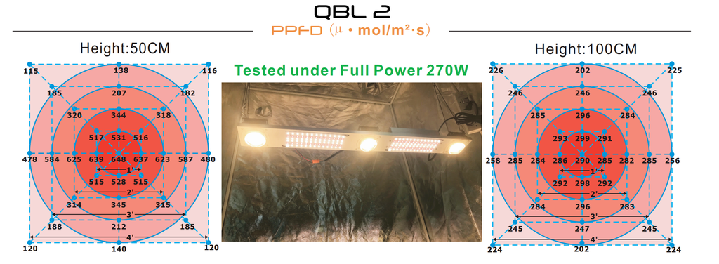 QBL 2 COB and Samsung LED Grow Light