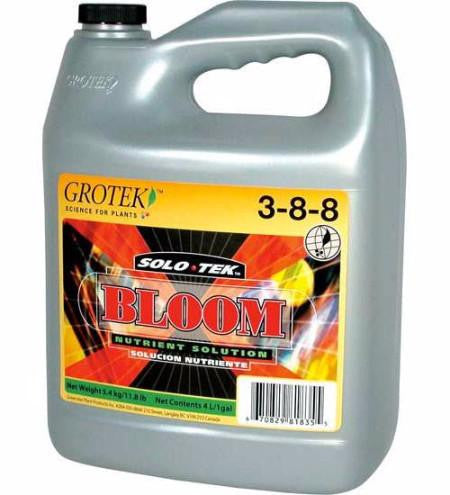 Grotek Solo-Tek Bloom Nutrient - 1 Litre and 4 Litre