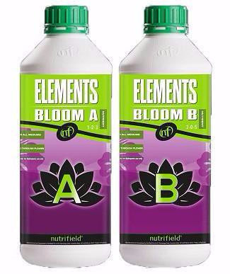 Nutrifield Elements Bloom A & B 1 Liter set Nutrients