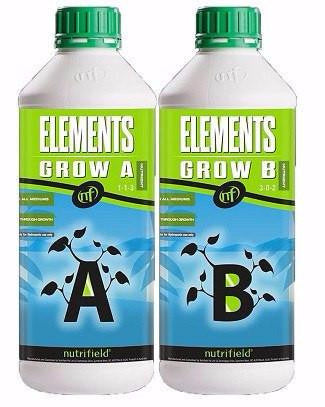 Nutrifield Elements Grow A & B 1 Liter set Nutrients
