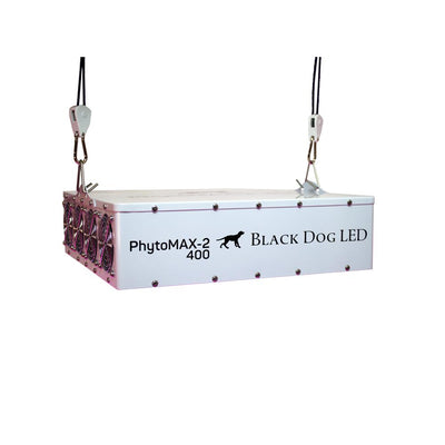 Black Dog Hanging LED grow Light Phytomax-2 400