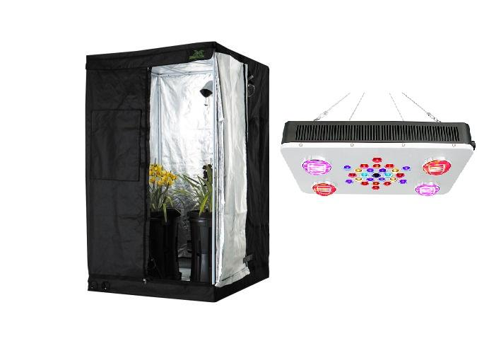 QBL 4 COB LED Grow Light with Grow Tent  sc 1 st  Quick Bloom Lights & Grow Tent Package QBL 4 COB LED Grow Light and Jungle Room Grow ...
