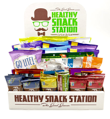 GMO-FREE HEALTHY SNACK STATION >>