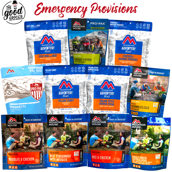 Emergency Food Provisions Care Package (5 Day Supply)