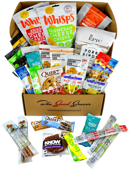 DELUXE KETO FRIENDLY SNACKS CARE PACKAGE (30CT)