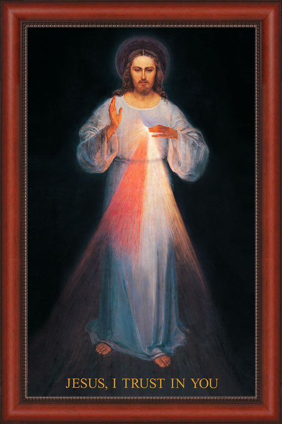 Overstock - Vilnius Divine Mercy 22x34 on Canvas - Frame 10352