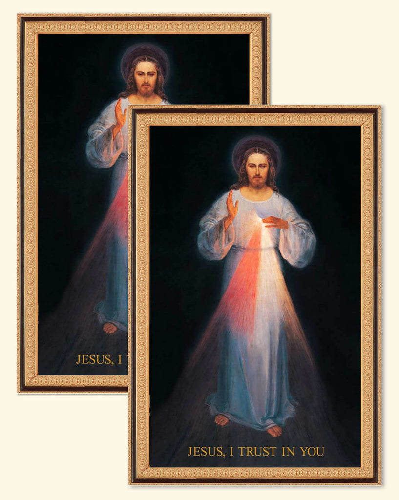 Special Gift Sale: 2 Vilnius Divine Mercy Images on Canvas
