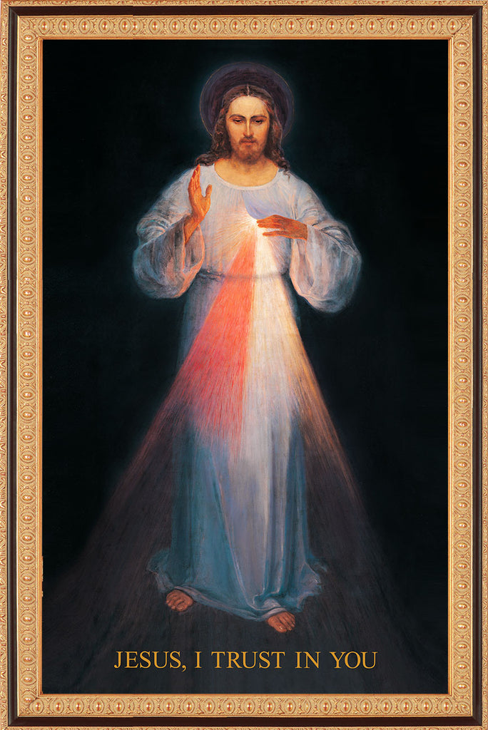 - UNDERSIZED: Vilnius Divine Mercy 19x33 on Canvas - Frame 8135