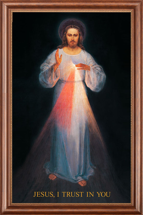 - Vilnius Divine Mercy 12x16 on Canvas - ON SALE- Frame 9729