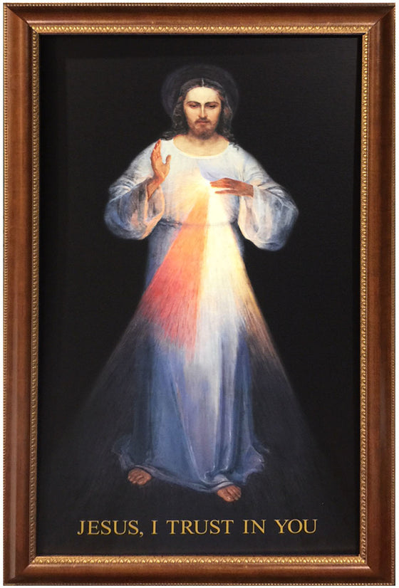 - Vilnius Divine Mercy 20x36 on Canvas - ON SALE - Frame 9745