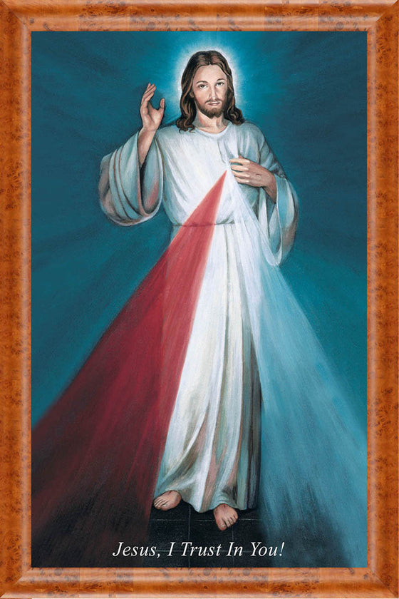 Hyla Divine Mercy on Canvas - Frame 8714