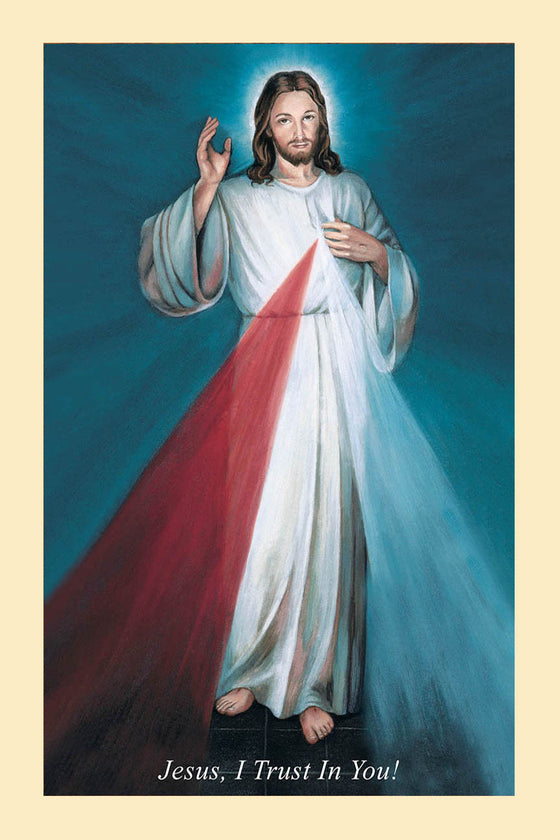 Hyla Divine Mercy on Canvas - Unframed (rolled in tube)