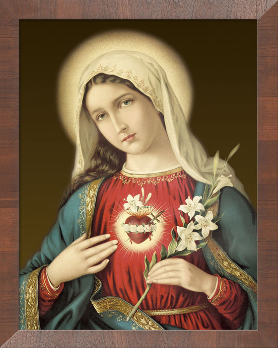 Immaculate Heart on Canvas - Frame 10458