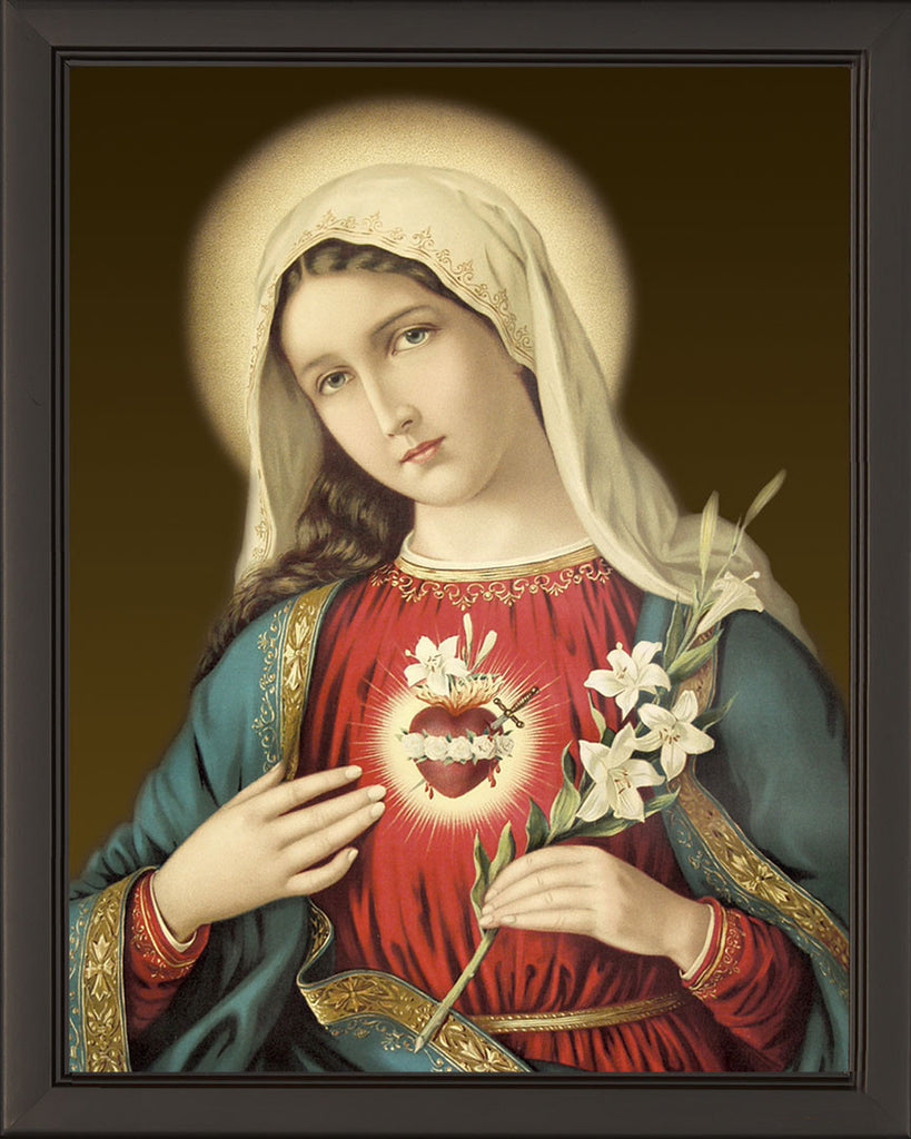 Immaculate Heart on Canvas - Frame 6711
