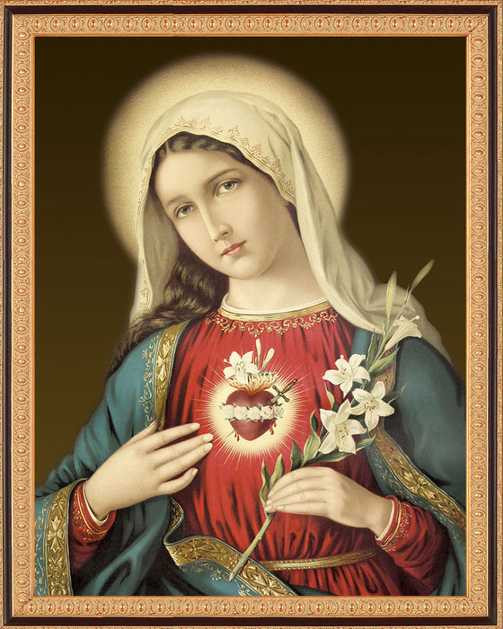 Immaculate Heart on Canvas - Frame 8135