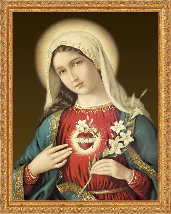 Immaculate Heart on Canvas - Frame 8483