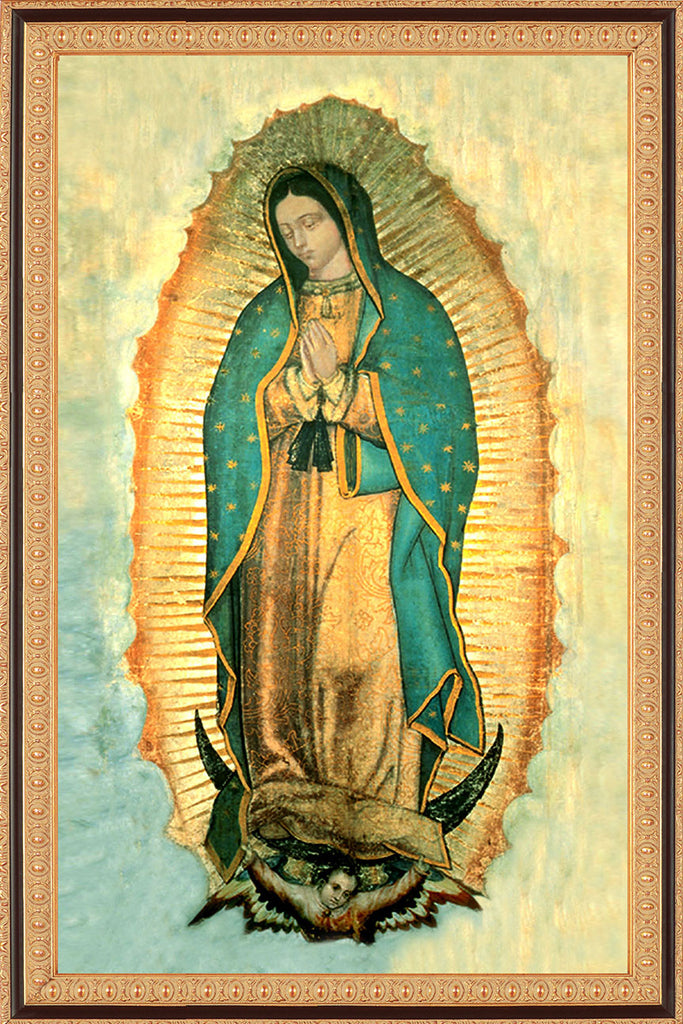 Our Lady of Guadalupe on Canvas - Frame 8135