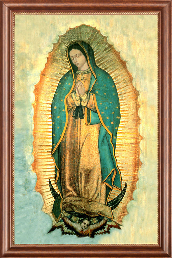 Our Lady of Guadalupe on Canvas - Frame 9729