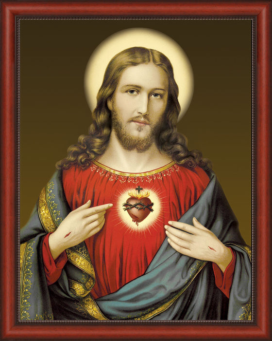 Sacred Heart on Canvas - Frame 10352