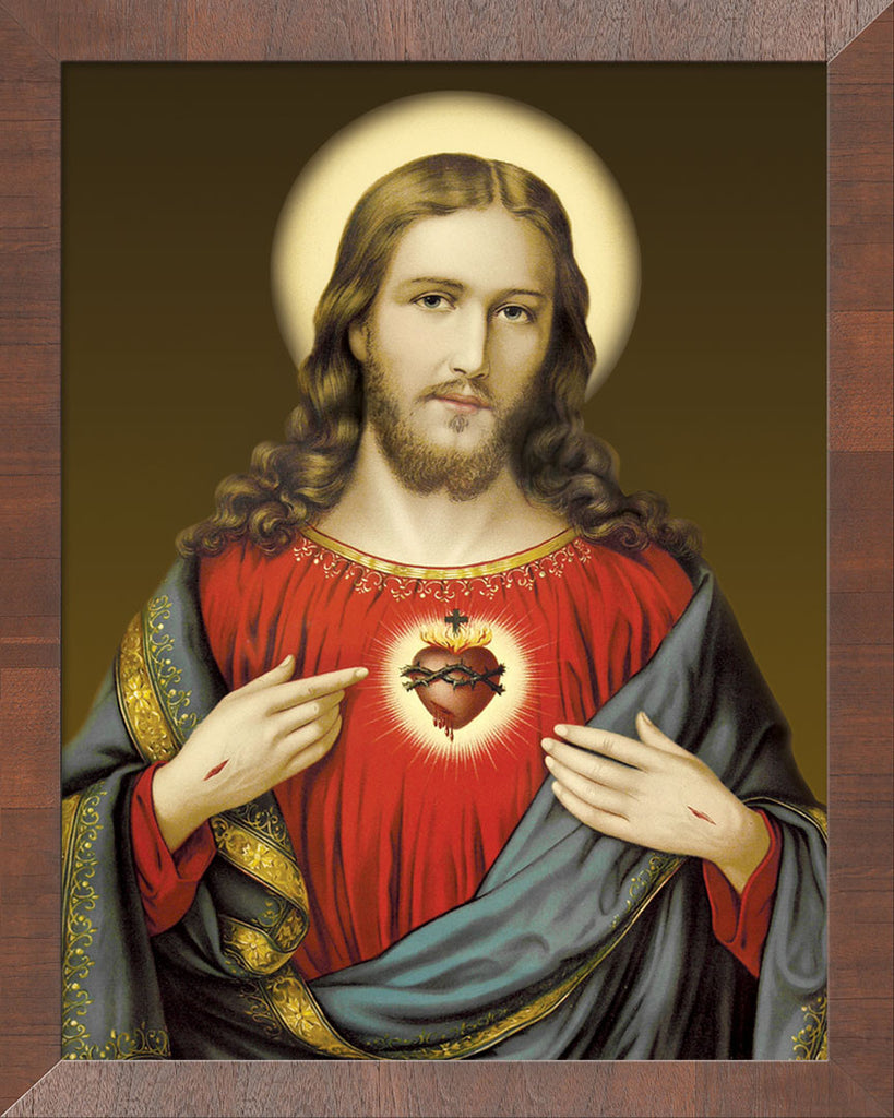 Sacred Heart on Canvas - Frame 10458