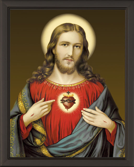 Sacred Heart on Canvas - Frame 6711