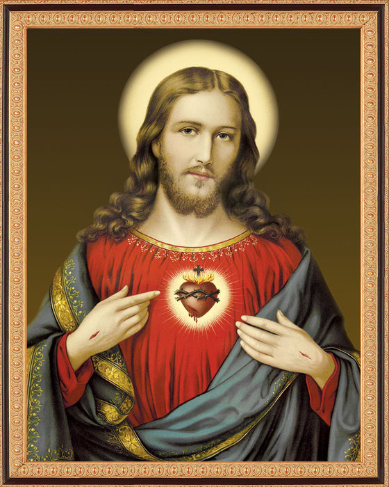 Sacred Heart on Canvas - Frame 8135