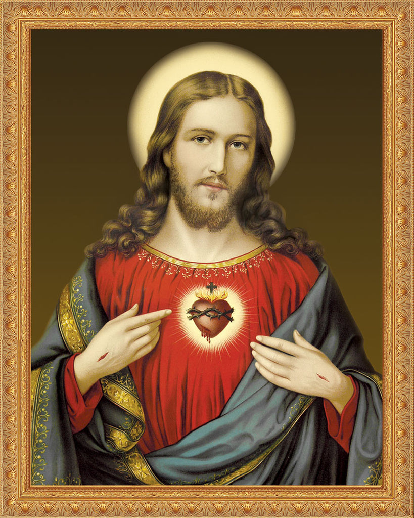 Sacred Heart on Canvas - Frame 8483