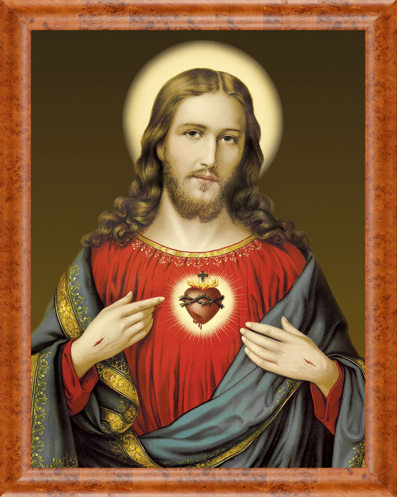 Sacred Heart on Canvas - Frame 8714