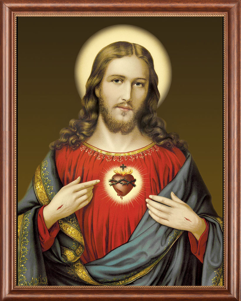 Sacred Heart on Canvas - Frame 9729