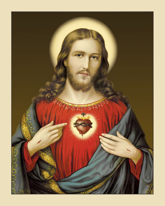 Sacred Heart on Canvas - Unframed