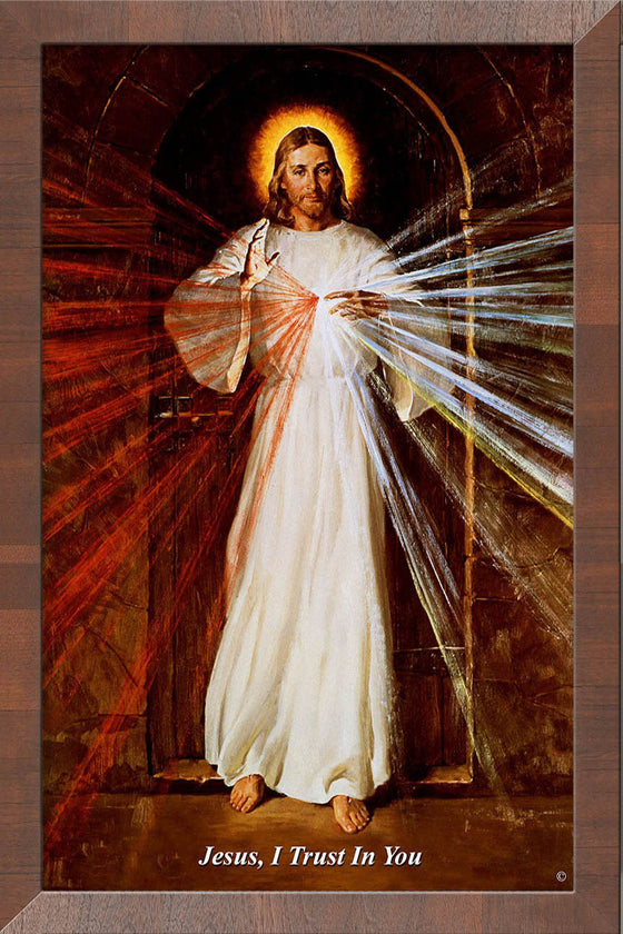 Skemp Divine Mercy on Canvas - Frame 10458