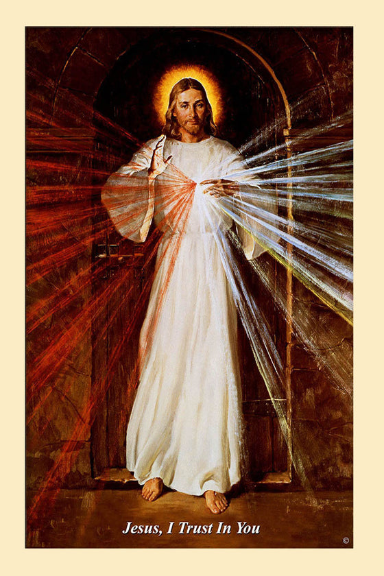 Skemp Divine Mercy on Canvas - Unframed (rolled in tube)