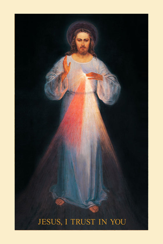 Vilnius Divine Mercy on Canvas - Unframed