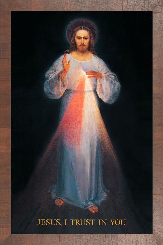 Vilnius Divine Mercy on Canvas - Frame 10458
